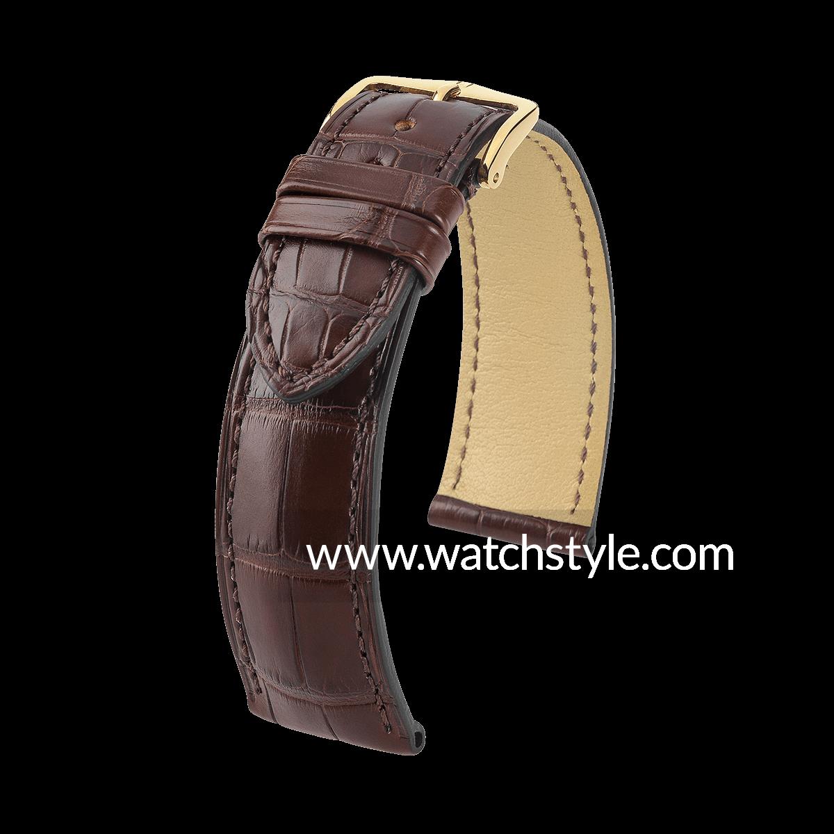 HIRSCH London - Correa reloj de aligátor auténtico 62f0e839dff0