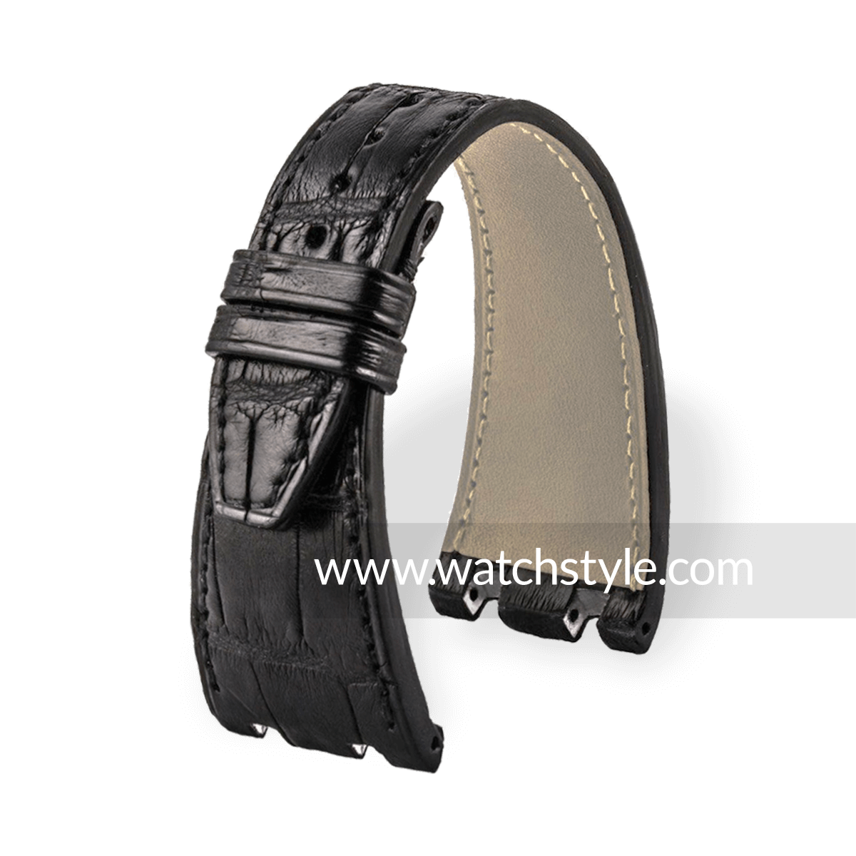 Offshore Bracelet Montre En Alligator Veritable Pour Audemars Piguet