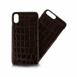 ABP iPhone Alligator Dark Brown Matt