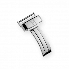 HIRSCH Folding Buckle Steel Shiny