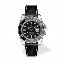 RSA Submariner Negro mate/Hilo blanco