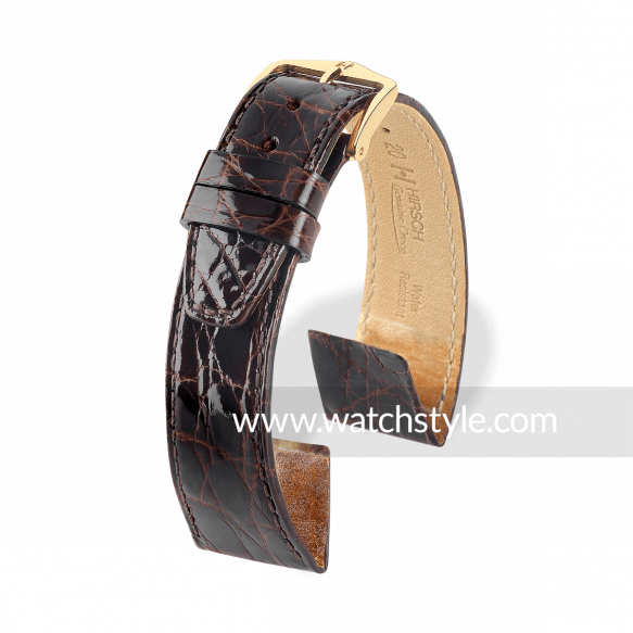 HIRSCH Genuine Croco OE Marron brillant
