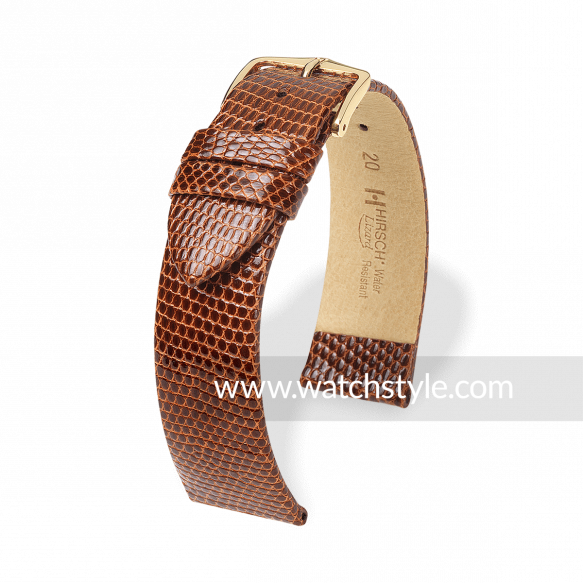 Hirsch Lizard Gold Brown Shiny